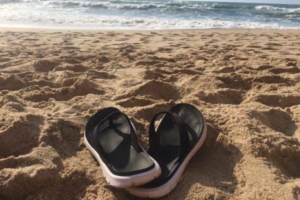 My life on flip-flops; Flip-flops at the beach