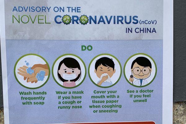 Corona warning