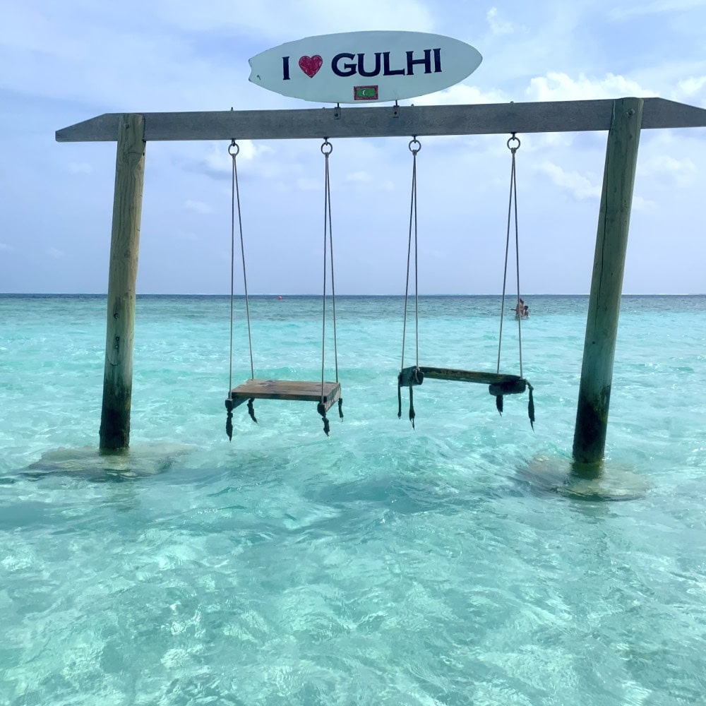 Gulhi swing sea beach maldives