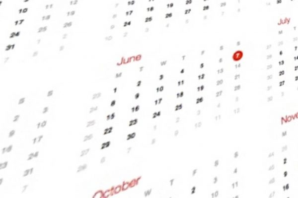 Screen Shot calender june planning